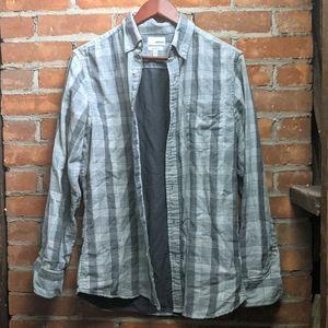 -Sonoma- Modern Fit Plaid Button Down Shirt